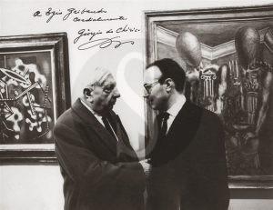 Ezio Gribaudo con Giorgio De Chirico, Roma 1928