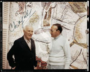 Ezio Gribaudo con Marc Chagall