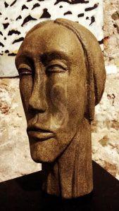 """""""Etiope dopo lo sbarco"""", scultura di Giuseppe Brancato"""