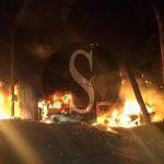 #Barcellona. Notte di fuoco, bruciati 4 auto e un furgone