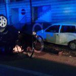 #Messina. Incidente nella notte in via Taormina, auto si ribalta