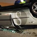 #Milazzo. Auto si ribalta a Ponente: un ferito