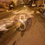 #Barcellona. Chiazza d'olio sull'asfalto in via Turati