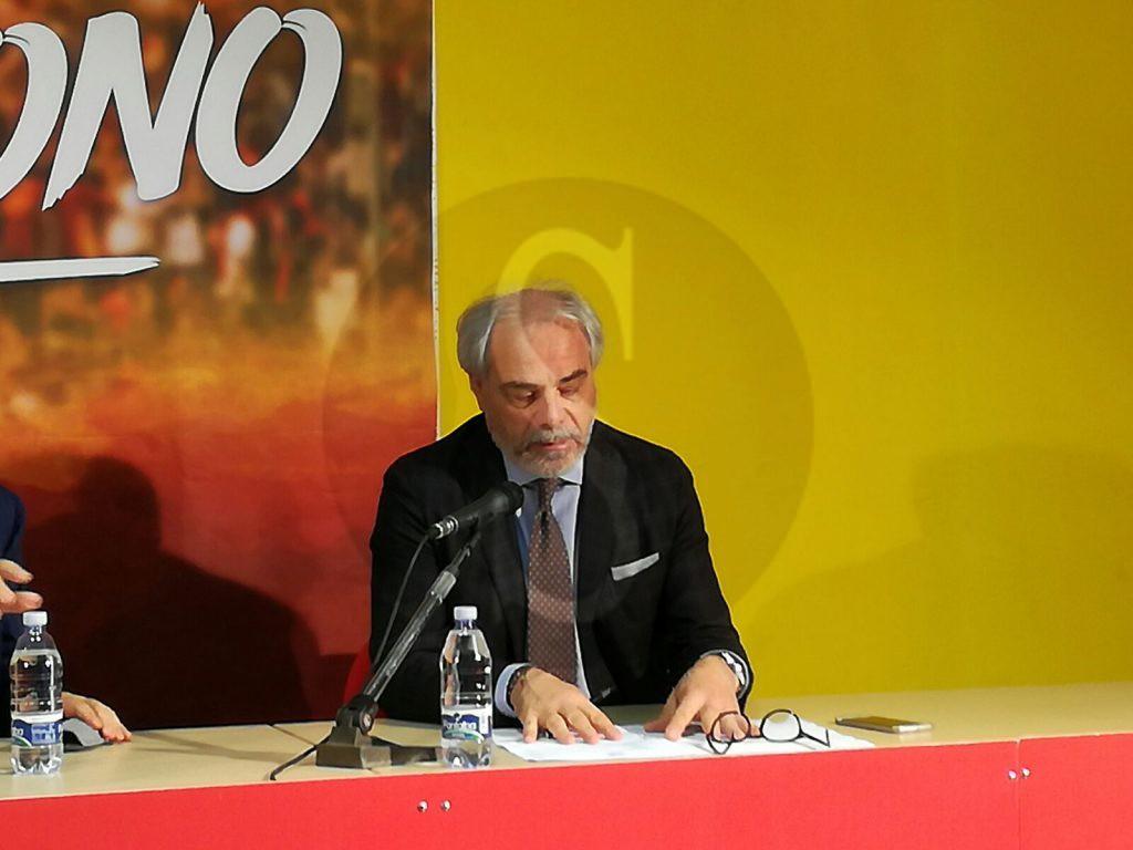 Il direttore sportivo Marcello Pitino (foto Maimone)