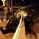 #Barcellona. Schianto nella notte sul ponte Longano, un ferito