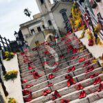 #Lipari. Scarpe rosse e mimosa a Marina Corta per ricordare le donne vittime di violenza