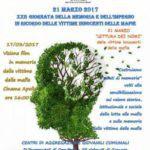 #Messina. XXII giornata vittime innocenti delle mafie, le iniziative