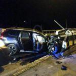 #TermeVigliatore. Schianto nella notte sul ponte di San Biagio, 2 feriti
