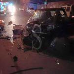 #Milazzo. Violento tamponamento nella notte a Ponente, tre i feriti