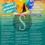 #Messina. Tenda della Pace 2017: dal 19 maggio domani a Piazza Duomo