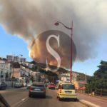 #Cronaca. Devastante incendio a Messina, a fuoco la zona di Curcuraci