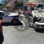 #Cronaca. Incidente in via Giorgio Rizzo a Milazzo, 4 feriti e una Panda ribaltata