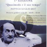 #Cultura. Patti, I Luoghi della Poesia: Quasimodo e il Suo Tempo