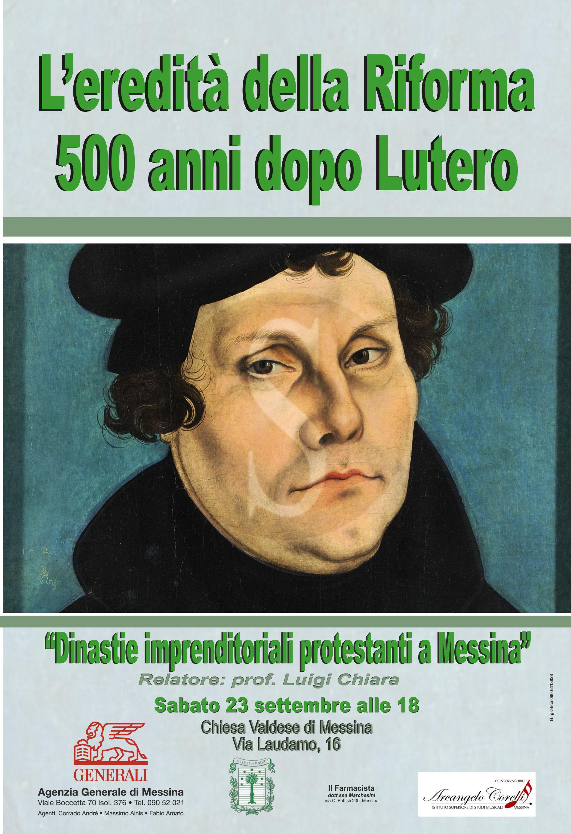 """#Cultura. Incontro sulle """"Dinastie imprenditoriali protestanti a Messina"""" alla Chiesa Valdese"""