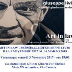 Arte. A Catania la mostra dell'artista Giuseppe Livio