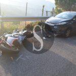 #Cronaca. Violento incidente moto-auto lungo la strada che conduce a Novara di Sicilia