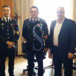 Attualità. Il sindaco di Giarre riceve il nuovo comandante dei carabinieri Raffaele Covetti