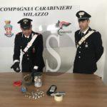Cronaca. Spaccio di droga a Milazzo, 20enne arrestato dai Carabinieri