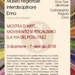 Arte. Movimento Verticalismo al Museo Regionale Interdisciplinare di Enna