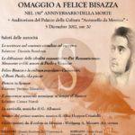 Cultura. Una serata di musica, teatro e poesia per ricordare Felice Bisazza