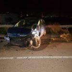 Cronaca. Incidente sull'asse viario di Milazzo, auto finisce contro il guard rail: quattro feriti