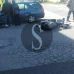 Cronaca. Incidente auto scooter in via Battifoglia, due i feriti