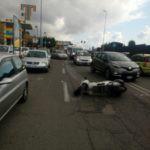 Cronaca. Messina, incidente tra auto e scooter a Pistunina: un ferito e traffico in tilt