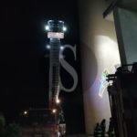 Cronaca. Croce pericolante a Barcellona PG, intervento dei Vigili del Fuoco di Messina e Milazzo