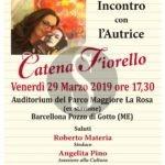 """Barcellona PG, Catena Fiorello presenta il suo ultimo libro """"Tutte le volte che ho pianto"""""""