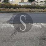 Barcellona PG, avvallamenti e rattoppi alla meno peggio nella strada dell'ex tracciato ferroviario