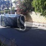 Cronaca. Barcellona PG, scontro tra auto in via Milite Ignoto: una finisce capovolta