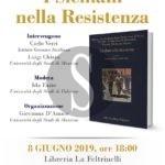 """""""I siciliani nella Resistenza"""", la presentazione l'8 giugno alla Feltrinelli"""