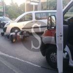 Merì, incidente furgone-scooter sul viale dell'Immacolata: centauro ferito