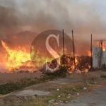 Barcellona PG, vasto incendio in corso nella zona Industriale di Sant'Andrea