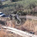 Incidente sull'asse viario di Milazzo. Auto finisce in una scarpata