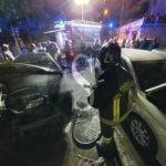 Paura a Messina Boccetta, auto in transito prende fuoco