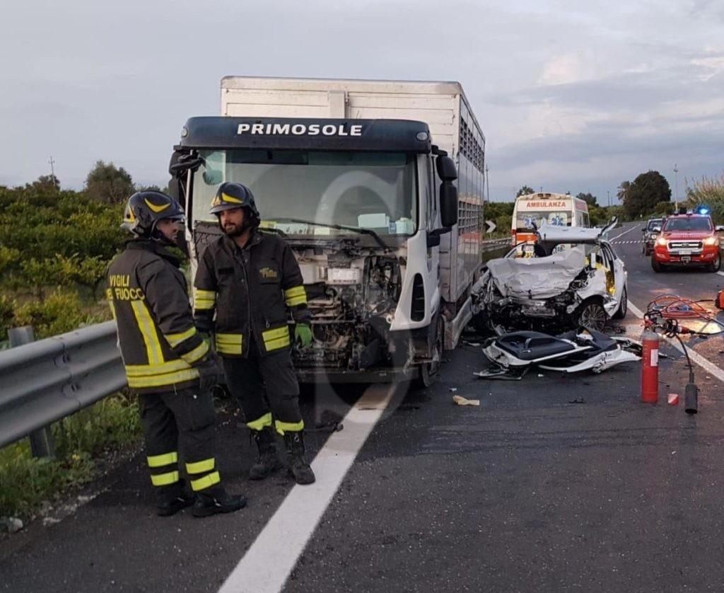 Siracusa, incidente mortale a Francofonte: messinesi le 3 vittime