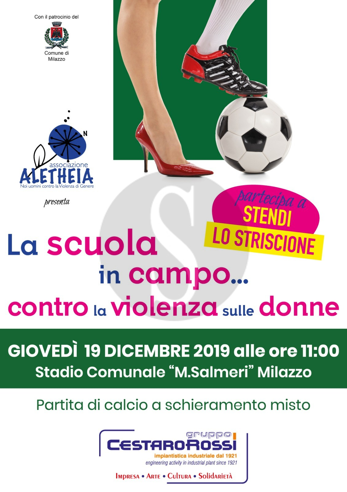Le scuole superiori di Milazzo in campo contro la violenza sulle donne