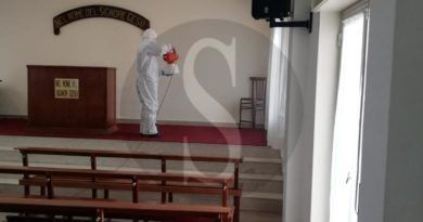 Emergenza coronavirus, sanificata chiesa a Scaletta Zanclea