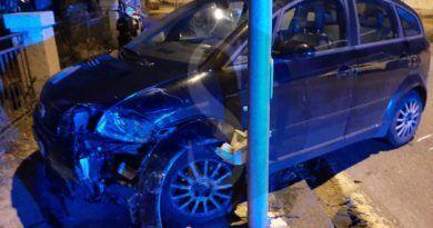 Ganzirri, conducente Audi perde il controllo e impatta contro una Toyota