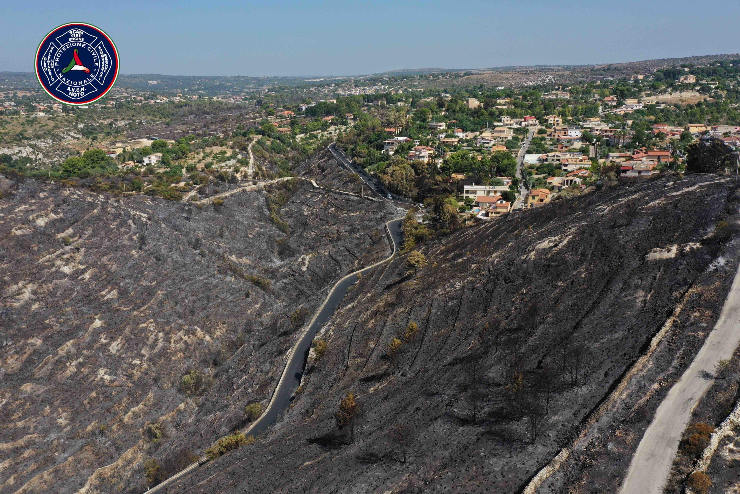 Protezione Civile di Noto, droni in volo per contenere gli incendi boschivi