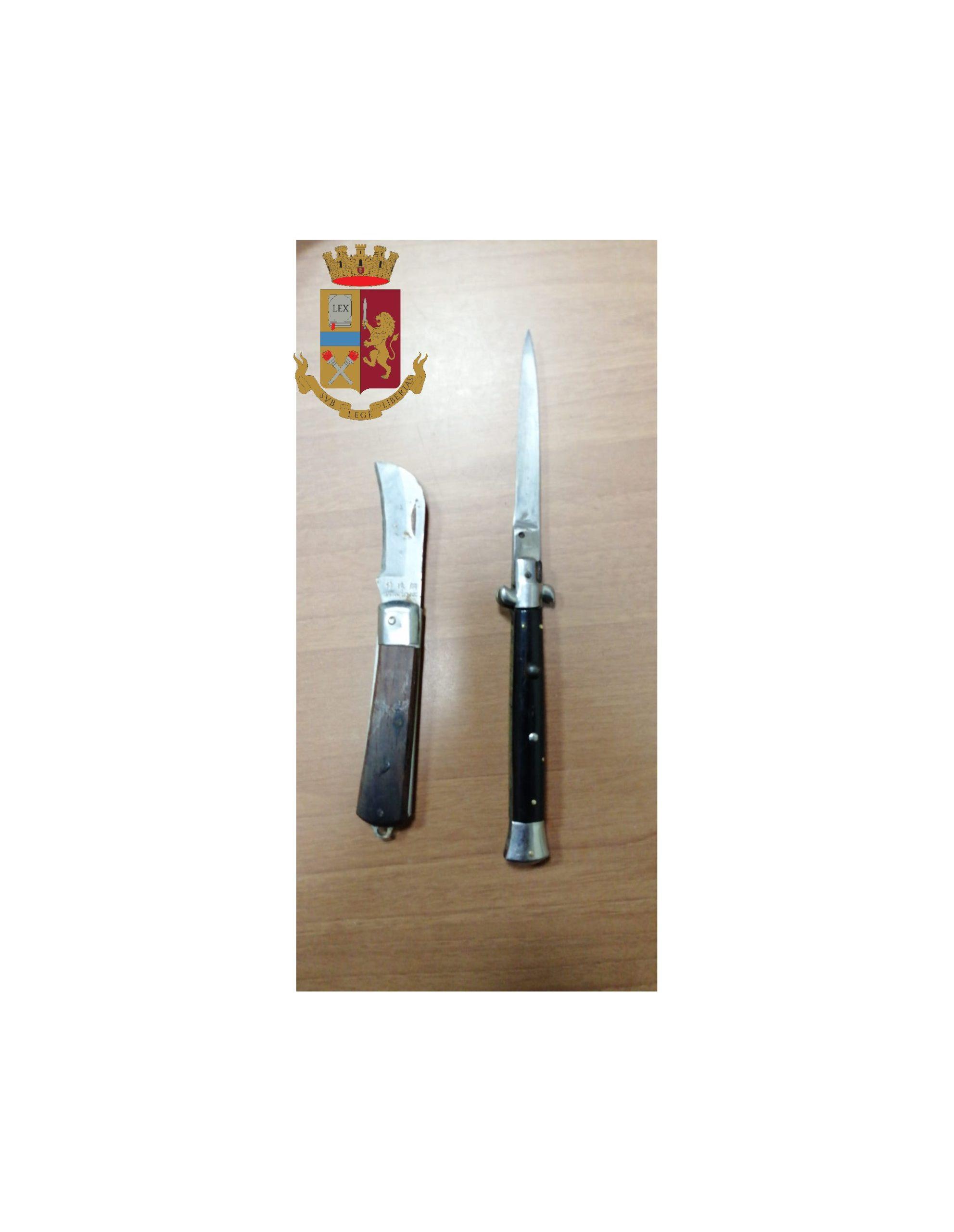 Messina, porto abusivo di armi: foglio di via per 50enne di Civitavecchia trovato in possesso di 2 coltelli
